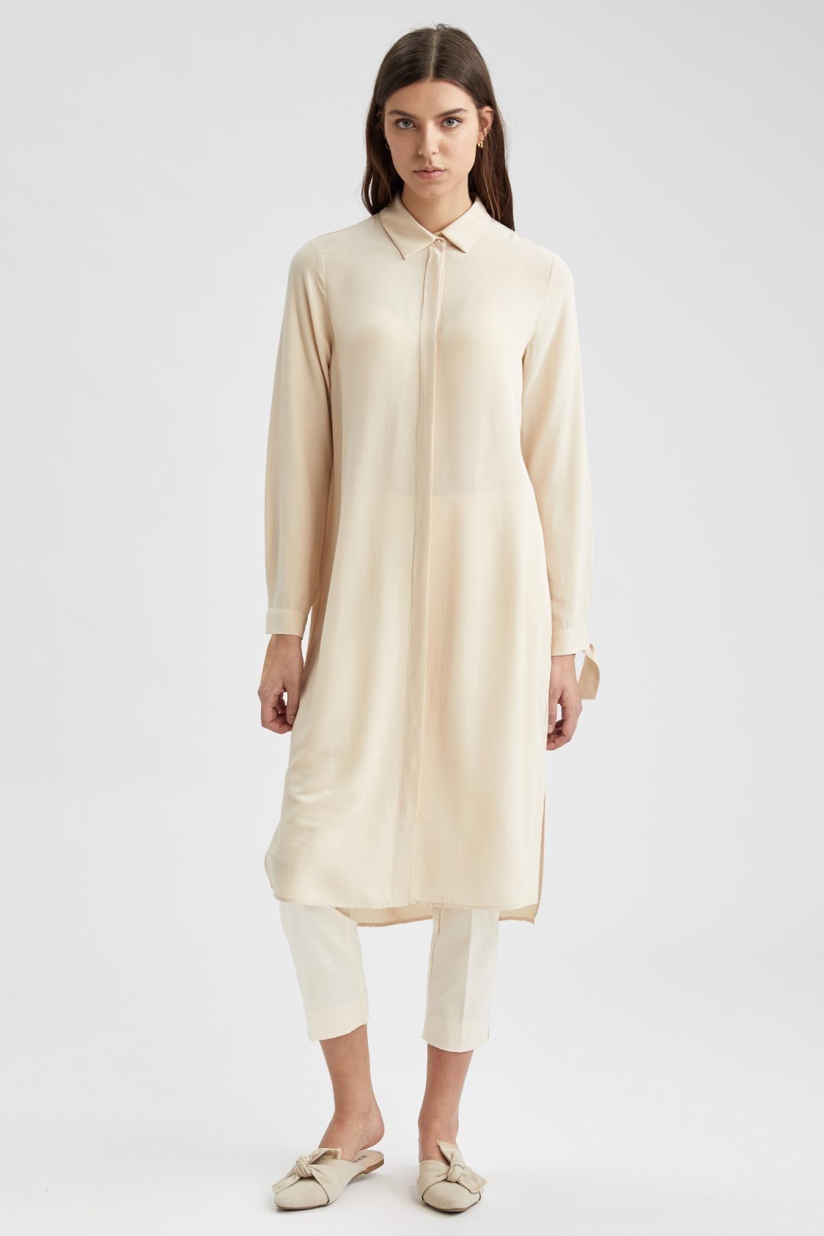 Defacto Regular Fit Uzun Gömlek Tunik 1