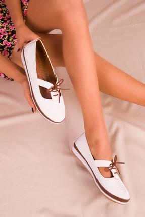 Soho Exclusive Beyaz Kadın Casual Ayakkabı 16101 1