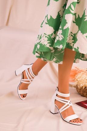Soho Exclusive Beyaz Kadın Klasik Topuklu Ayakkabı 14670 2
