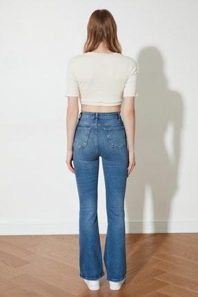 TRENDYOLMİLLA Mavi Yüksek Bel Flare Jeans TWOSS21JE0112 4