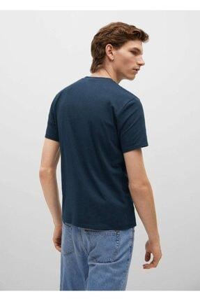 Mango Pamuklu Streç Tişört 3