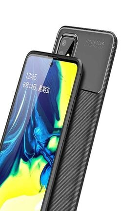 Zore Samsung Galaxy M31s Negro Karbon Darbe Önleyici Kılıf + Nano Cam Ekran Koruyucu 2
