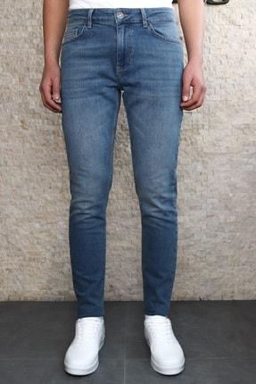 Collezione Collezıone Steve Taşlamalı Slim Fit Mavi Kot Pantolon 1