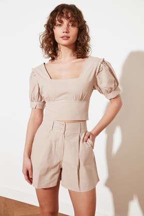 TRENDYOLMİLLA Taş Petite Fermuarlı Bluz TWOSS21BZ1530 1