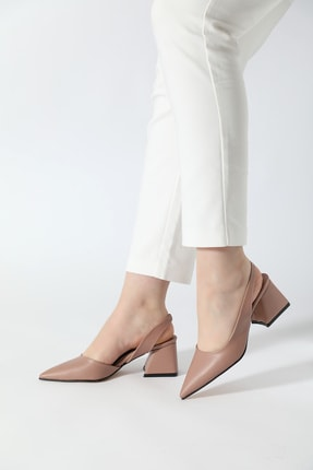 ALTINAYAK Kadın Yanı Kesik Arka Açık Sivri Kalıp Ayakkabı 0