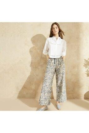 Yargıcı Kadın Bağlama Detaylı Pantolon 0
