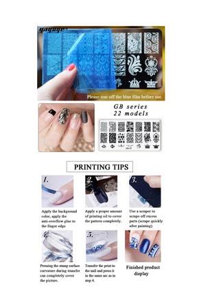 YAYOGE Stamping Gel Siyah + Stamping Plate + Stamer Scraper Kit Transfer Set (alara'nın Kolleksiyonu) 1
