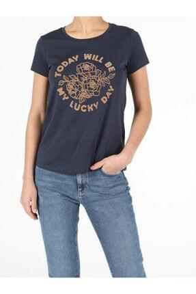 Colin's Kadın Lacivert Kısa Kol  T-Shirt 0