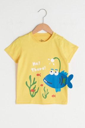 LC Waikiki Erkek Bebek Sarı Fwv T-Shirt 0