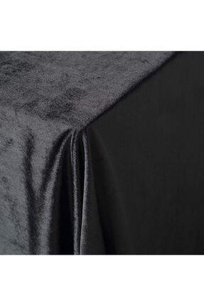 Çeyizci Siyah Kadife Nişan Masası Masa Örtüsü 135x220 cm 2