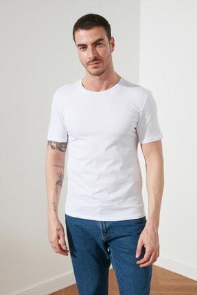 TRENDYOL MAN Çok Renkli Erkek Basic Slim Fit 3'lü Paket T-Shirt  TMNSS19BO0007 3