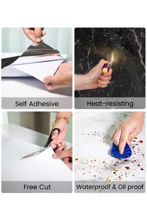 ebulduk Kaplama Kağıdı Mermer Desenli Kaplama Masa Tezgah Kaplama Kağıdı 5 Metre 60 cm 3