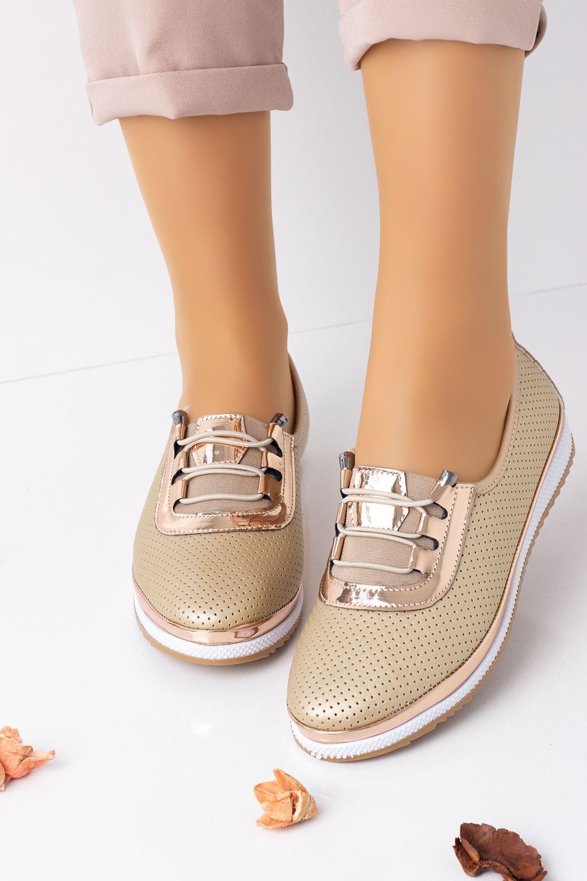Kadın Rahat Ortopedik Babet Spor Ayakkabı-dore