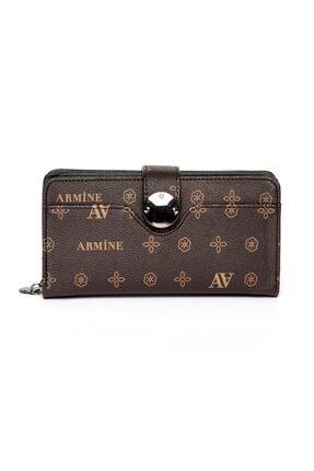 Armine C04 Kahverengi Baskılı Cüzdan 0