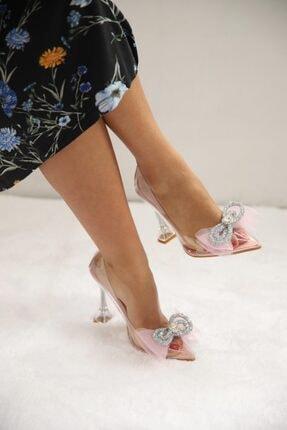SHOEBELLAS She Pembe Kadın Topuklu Ayakkabı 3