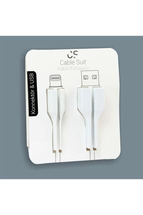 TAYFUN Beyaz Cable Protector Iphone Uyumlu Kablo Koruyucu 1