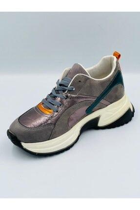 Pierre Cardin Gümüş Parlak Ortopedik Hafızalı Tabanlıklı Hafif Rahat Konforlu Spor Ayakkabı 1