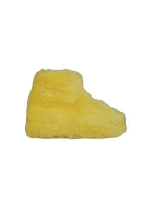 تصویر از بوت حوله ای  زنانه زرد