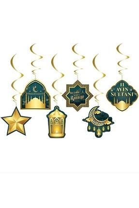 Huzur Party Store 6'lı Tavan Süs Hoşgeldin Ramazan Bayramı 11 Ayın Sultanı Temalı Sarkıt Dini İslami Süsü 0