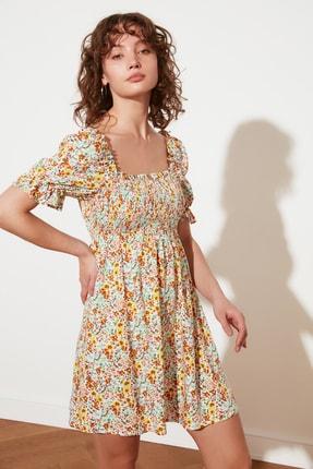 TRENDYOLMİLLA Ekru Petite Çiçekli Elbise TWOSS21EL2923 1