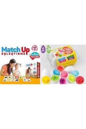 AyasEğiticiOyuncak Circle Toys Match Up Eşleştirme Kartları , Geometrik Şekilli Yumurta Bultak 0