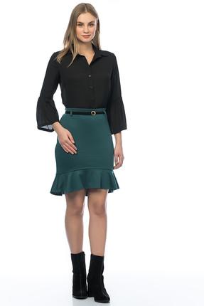 Kadın Zümrüt Yeşili Etek 20857.