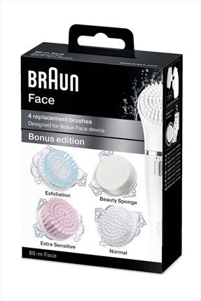 Braun Face Yüz Temizleme Cihazı Yedek Fırça Başlığı 4'lü Paket SE80-M 4210201124313 0