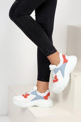 Beyaz Mavi Kadın Spor Ayakkabı A806-19
