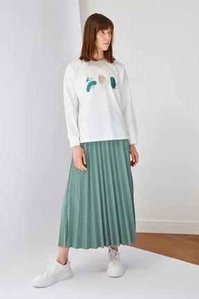 Trendyol Modest Yeşil Baskılı Bluz Etek Alt-Üst Takım TCTSS21AU0280 3