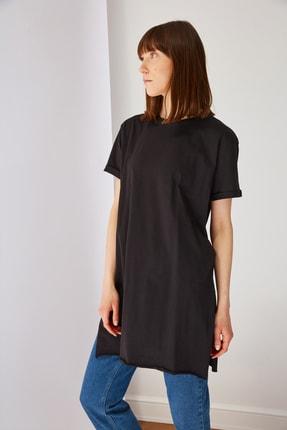 Trendyol Modest Siyah Basic Tunik T-shirt TCTSS21TN0056 0