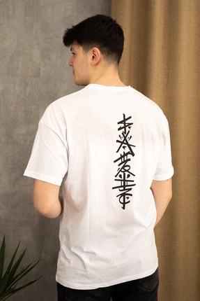 wamoss Oversize Japon Figür T-shirt 0