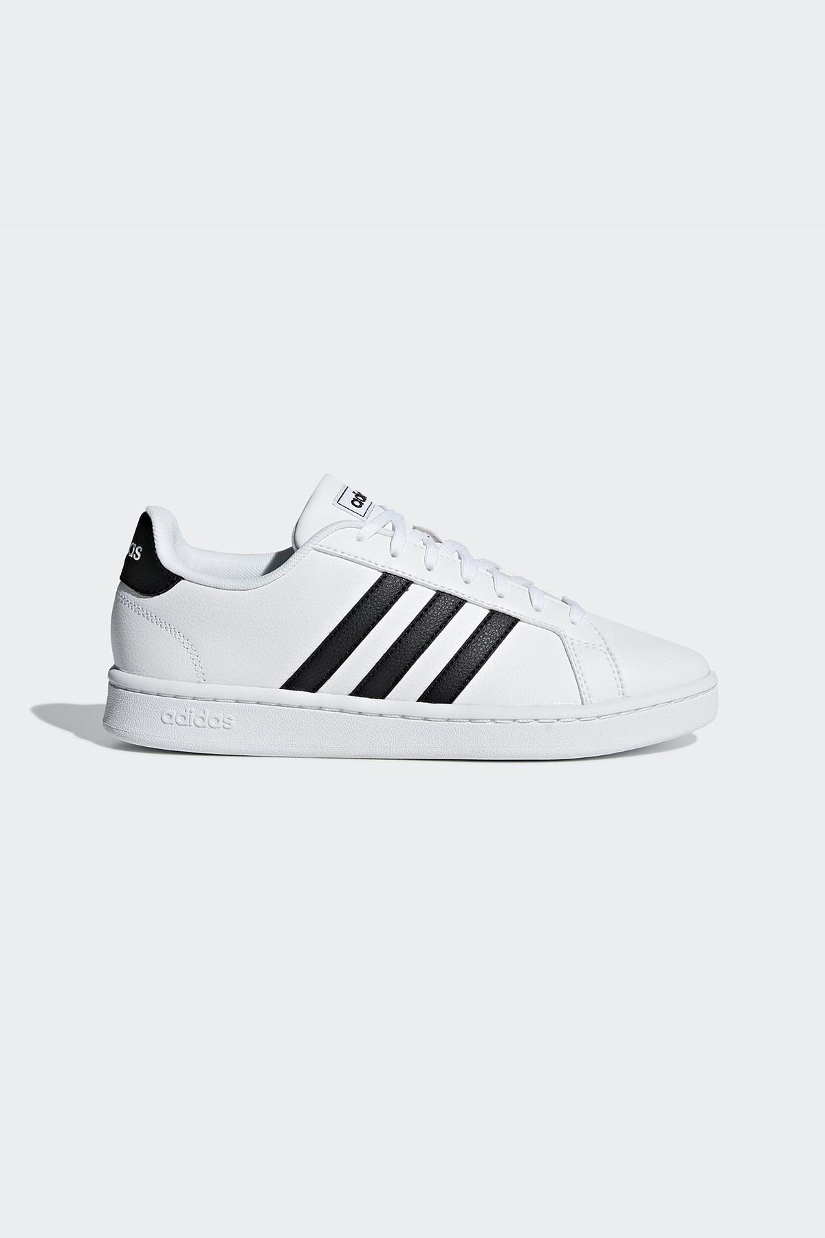 Grand Court- Siyah Beyaz Kadın Sneaker Ayakkabı 100403391