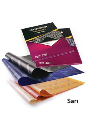 Monopol A4 Karbon Kağıdı 5'li - Sarı 200364 0