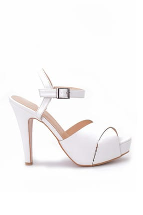 تصویر از Beyaz Kadın Topuklu Ayakkabı