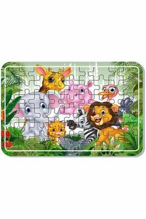 Baskı Atölyesi Uzay Kedi, Sevimli Hayvanlar, Lunapark , Masal Kahramanları Çiftlik Hayvanları 54 Parça Ahşap Puzzle 3