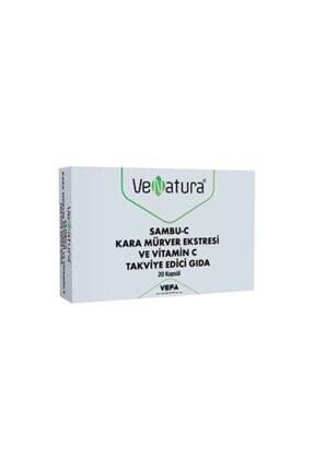 Venatura Sambu-c Kara Mürver Ekstresi Ve Vitamin C Takviye Edici Gıda 20 Kapsül 0