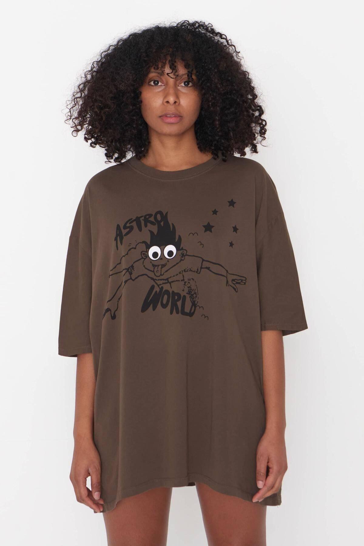Baskılı T-shirt P9527 - G10