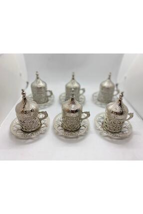 SWORD Osmanlı Motifli Dekoratif Hediyelik 6 Kişilik Türk Kahve Seti 1