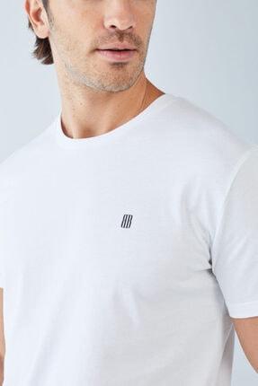 Boris Becker Erkek Beyaz Baskılı Basic T-shirt 2