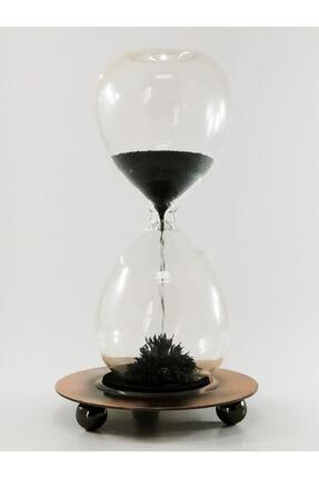 SUME Metal Manyetik Standlı Mıknatıslı Cam Kum Saati 0