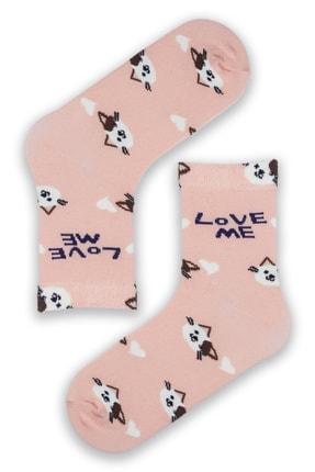 Modernity Kadın Renkli Parfümlü Love Me Baskılı 4'lü Çorap Seti 1