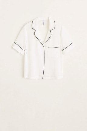 Mango Kadın Kırık Beyaz Bluz 43027720 2