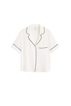 Mango Kadın Kırık Beyaz Bluz 43027720 3
