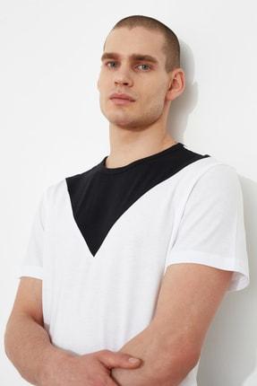 TRENDYOL MAN Beyaz Erkek T-Shirt TMNSS21TS1500 1