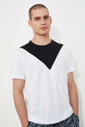 TRENDYOL MAN Beyaz Erkek T-Shirt TMNSS21TS1500 0