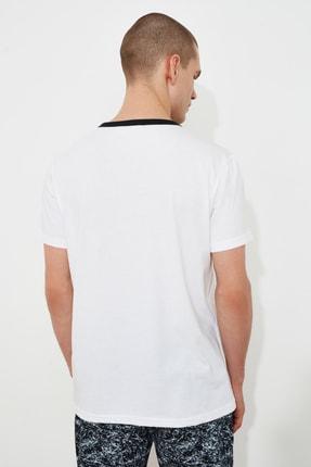 TRENDYOL MAN Beyaz Erkek T-Shirt TMNSS21TS1500 3
