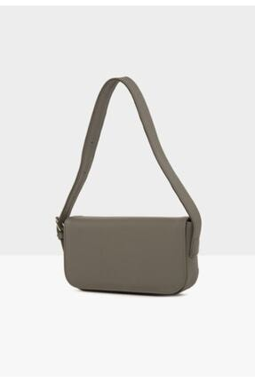 bag&more Kadın Gri Kapaklı Baget Çanta 1