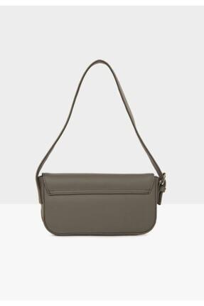 bag&more Kadın Gri Kapaklı Baget Çanta 2