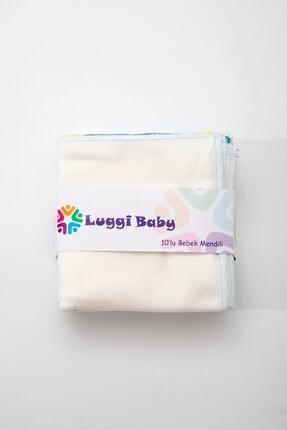 Luggi Erkek Pamuklu 10lu Bebek Mendili 4268-e Bebek Ağız Bezi 1