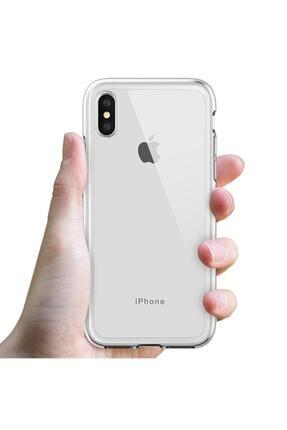 MY MÜRDÜM Iphone X Şeffaf Kılıf Kenarları Koruma Çizgili Sararma Yapmaz 0